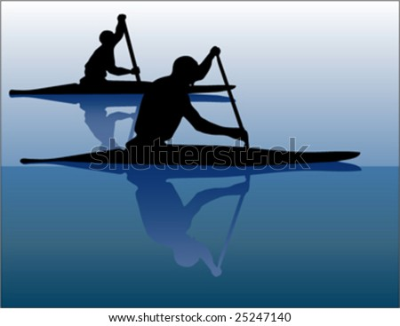 two canoe players