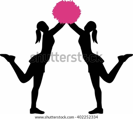cheerleading vector cheerleader silhouette stock images royalty free images 9132