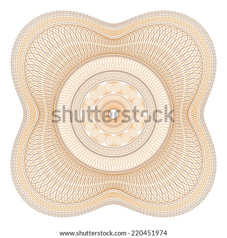 Two Color Guilloche Rosette Vector Illustration - stock vector