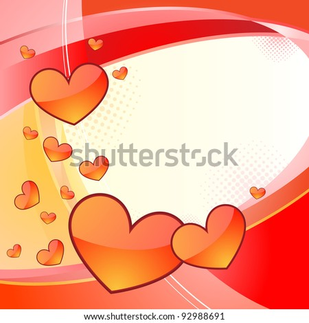 Two colors background with lines and hearts