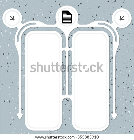 Two connected frames for your text and document icon - stock vector