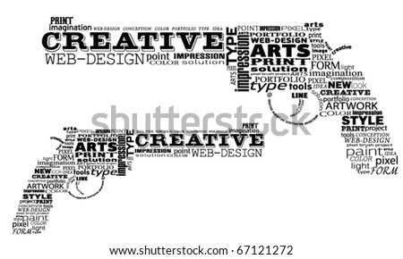 Two creative revolvers made by typography, vector - stock vector