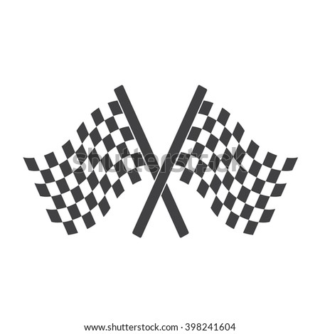 Two Cross Checkered Flags for start and finish( racing flags).
