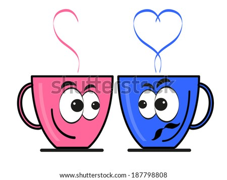 Two cups. - stock vector