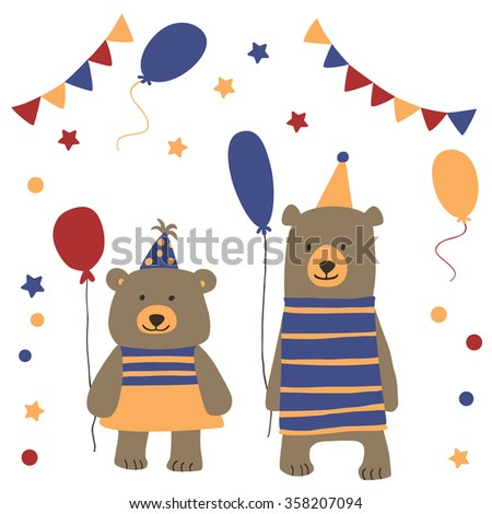 Two cute bears at carnival