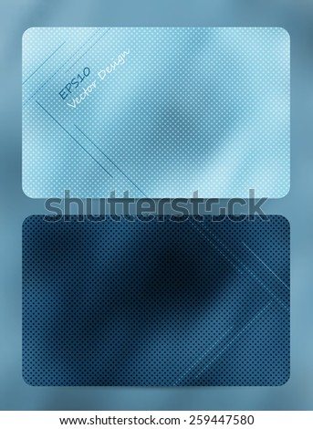two denim style vector bright cards. Eps10 - stock vector