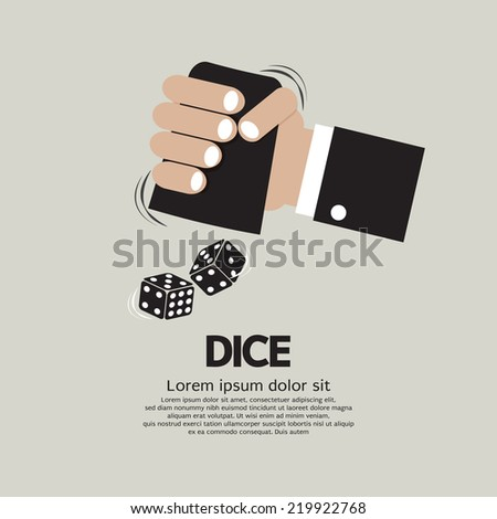 Two Dices High or Low Gamble Vector Illustration - stock vector