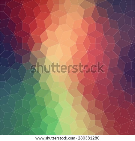 Two dimensional geometric colorful background for web - stock vector