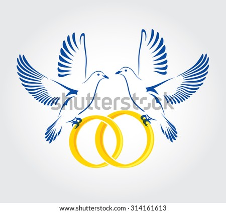 Ring dove symbolism in wedding