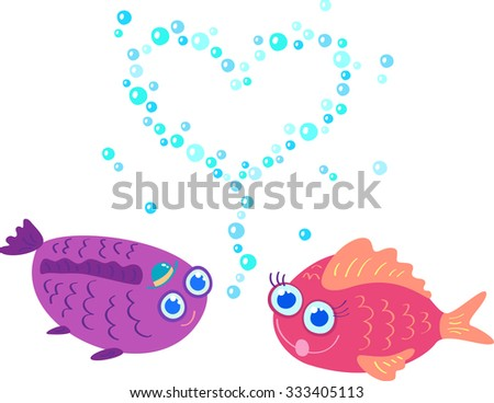 Two fish in love