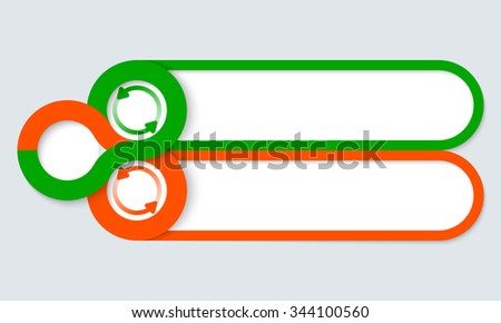 Two frames for your text and arrows - stock vector