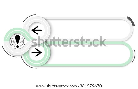Two frames for your text and exclamation mark - stock vector