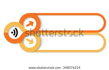 Two frames for your text and feed icon - stock vector