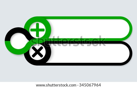 Two frames for your text and symbols - stock vector