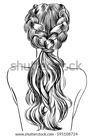 Hairstyles coloring pages