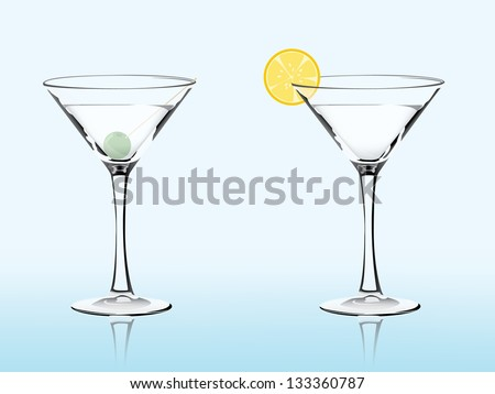 Two glasses with the orange
