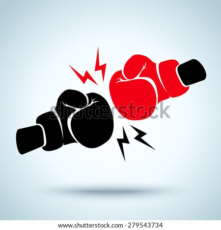 Two gloves for boxing - stock vector
