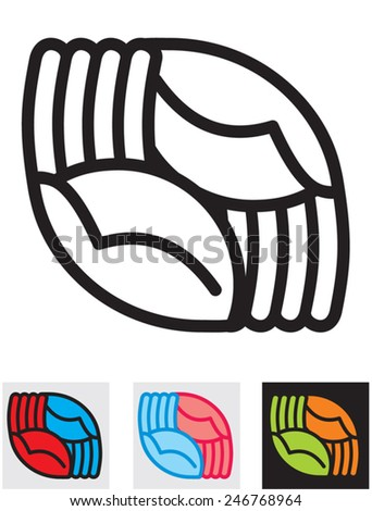 Two Hands crossed. Palm up.   - stock vector
