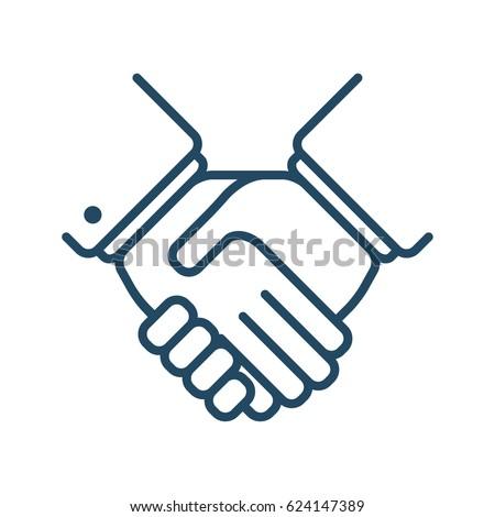 Two Hands Vector Icon Meaning Handshake Stock Vector Royalty Free