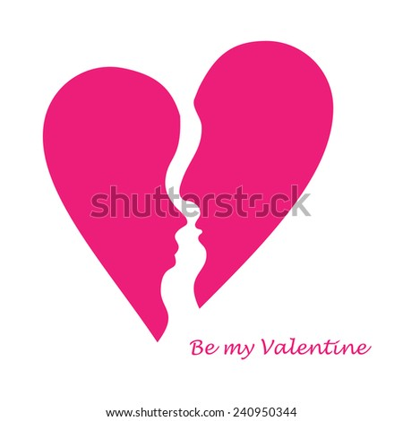 two hearts - stock vector