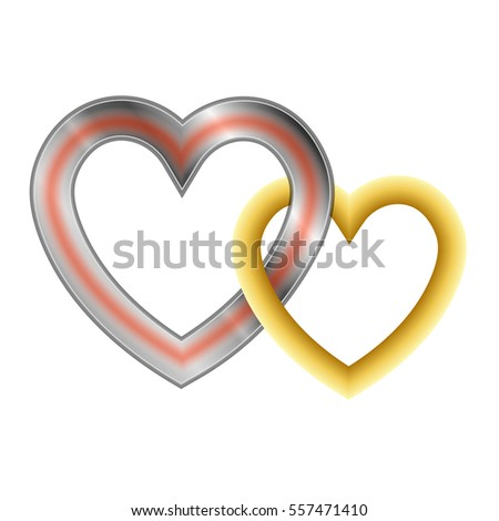 Two Hearts Symbol Unity Loyalty Love Stock Vector Royalty Free