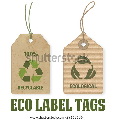 Two high detail grunge Vector Eco Price Tags. - stock vector