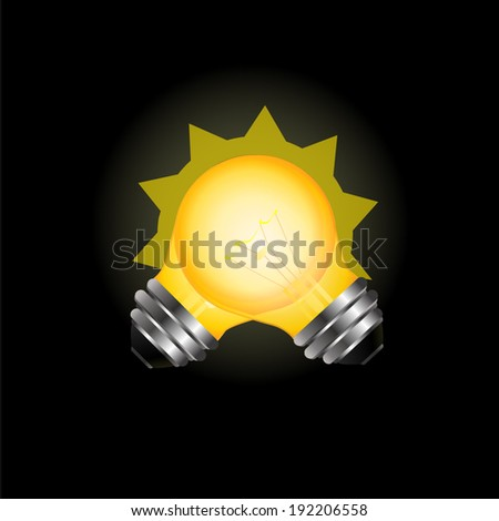 two light bulbs. Vector - stock vector