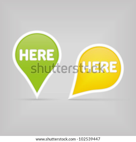 two map signs - green and yellow