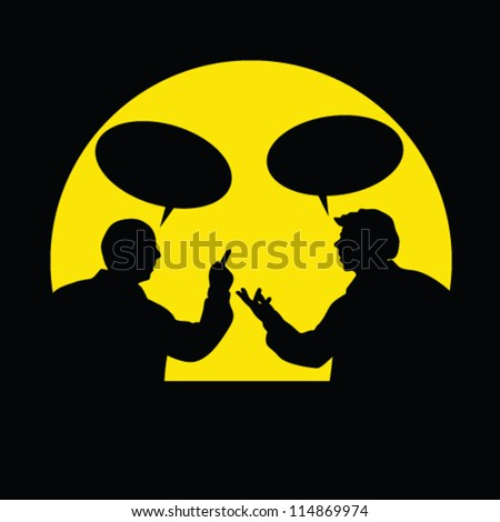 two men in the story as a comic book vector illustration - stock vector