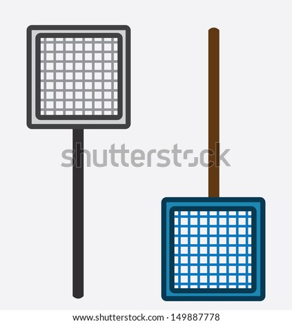 Two nets isolated gray and blue  - stock vector
