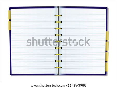 Two pages of diary blank with rulled lines - stock vector