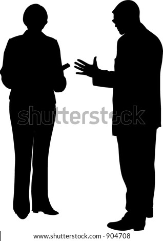 Two people - stock vector