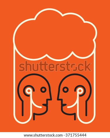 two people talking where virtually connected through cloud service