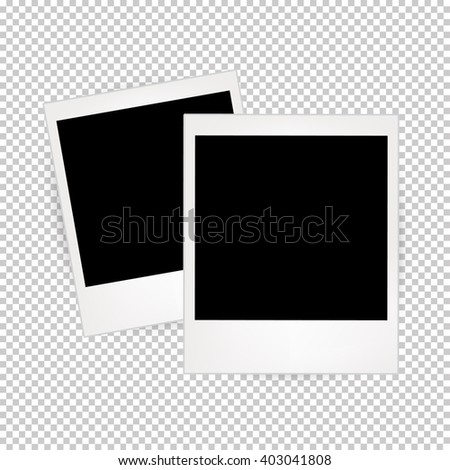 Two Photo Frames With Transparent Background - stock vector