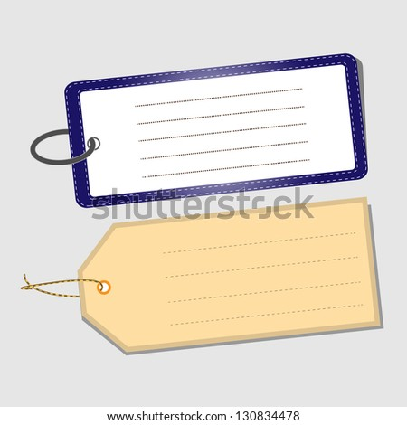 Two Plain Tags, Vector Illustration
