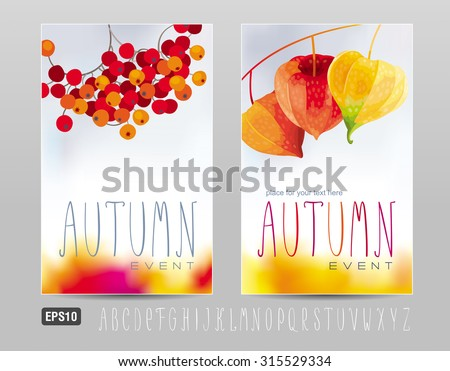 Two posters for autumn events and sales - stock vector