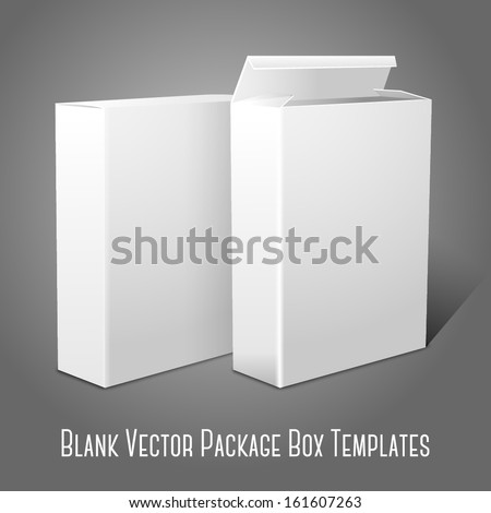 Blank Red Cereal Box