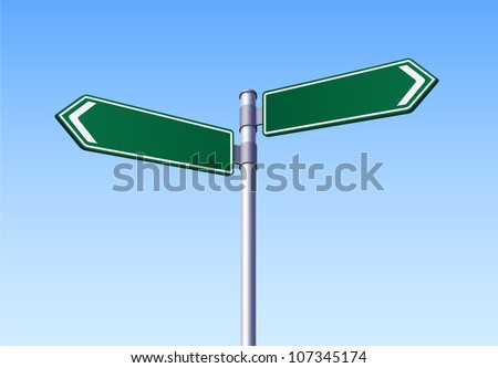 Two Road Sign Vector - stock vector