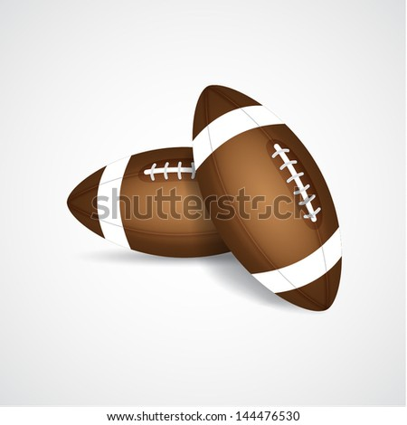 Two rugby balls. EPS10 vector