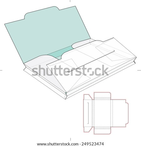 Two Section Folder - stock vector