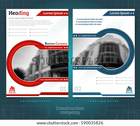 Two Sided Brochure Flayer Template Design Stock Vector 2018