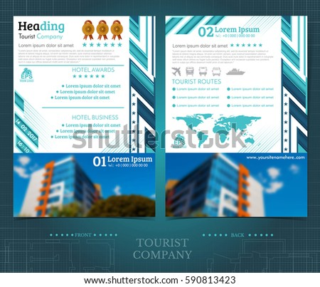 Two Sided Brochure Flayer Template Design Stock Vector 590813423