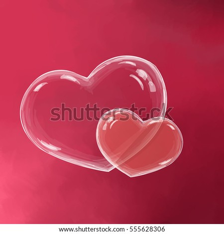 Two Soap Bubble Form Heart On Stock Vector 555628306 - Shutterstock