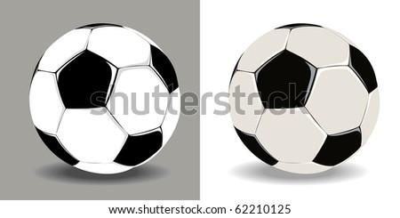 two soccer balls - stock vector