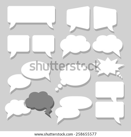 Two Speech bubbles icons set vector