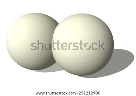 Two spheres isolated on white. Vector illustration for your design. - stock vector