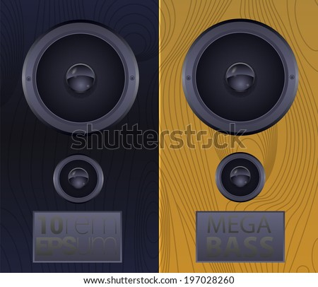 Two subwoofers. Vector illustration.