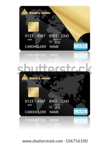 Two template for credit cards. Vector illustration. EPS10.