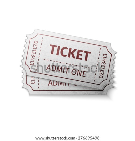 two tickets, excellent vector illustration, EPS 10 - stock vector