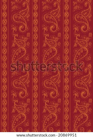 Two-tone modular indian fabric texture. Repeatable, you can create larger pattern alongside the modules. - stock vector